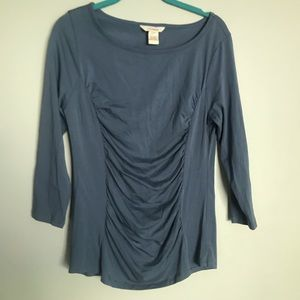 Sundance Tops - Sundance Catalog M top Blue Princess Ruched